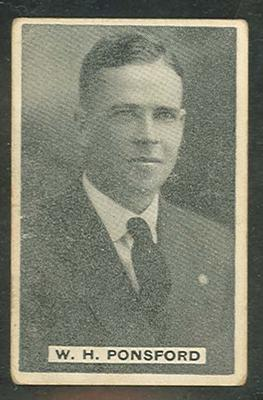 1932/33 Sweetacres Cricketers W H Ponsford trade card