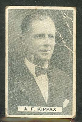 1932/33 Sweetacres Cricketers A F Kippax trade card