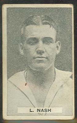 1932/33 Sweetacres Cricketers L Nash trade card