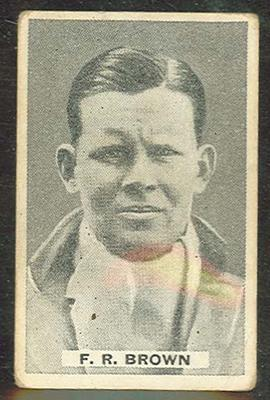 1932/33 Sweetacres Cricketers F R Brown trade card; Documents and books; M12698.23
