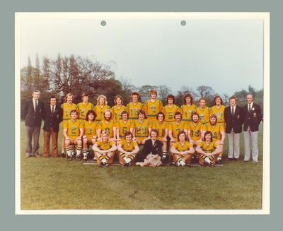 Colour photograph of the Australian Lacrosse Team, Manchester, England 1976.; Photography; 1986.1222.1
