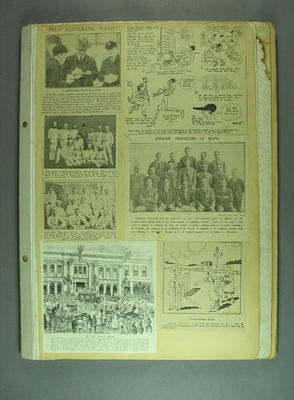 Scrapbook, contains newspaper clippings related to cricket c1924; Documents and books; M12730.1
