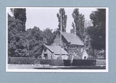 Postcard, depicts Captain Cook's Cottage