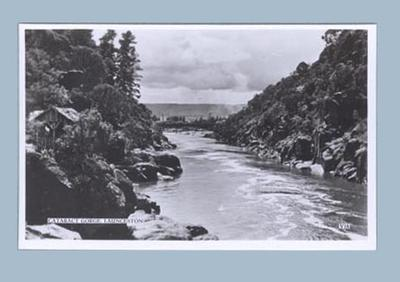 Postcard, depicts Cataract Gorge in Launceston