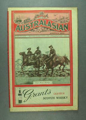 """Newspaper, """"The Australasian"""" - 16 Mar 1929; Documents and books; M12732.2"""