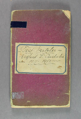 Scrapbook cover - 'Test Matches:   England v. Australia 1911-1912'; Documents and books; M3164.2