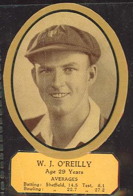 Card cut-out depicting W J O'Reilly, c1934; Documents and books; M12719.6