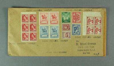 Envelope addressed to Richard Mayerson, undated