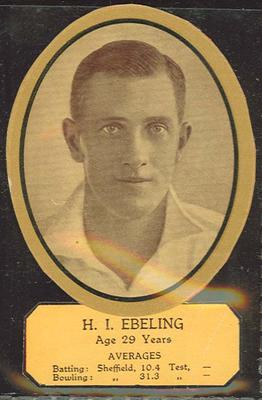 Card cut-out depicting H I Ebeling, c1934; Documents and books; M12719.7