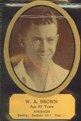 Card cut-out depicting W A Brown, c1934; Documents and books; M12719.8