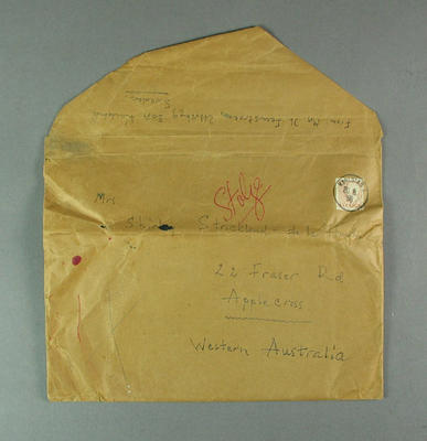 Envelope addressed to Shirley Strickland, undated