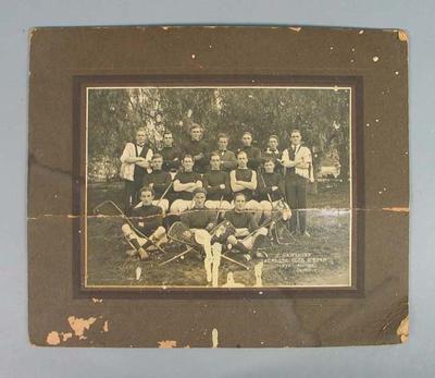 Black and white photograph, Hawthorn Lacrosse Club B Team - 1914