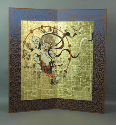 Woven artwork, depicts Japanese gods; Artwork; M12721.1