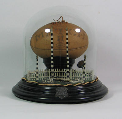 Part of a trophy presented by Collingwood Trades FC to Wally Ocock, 1905