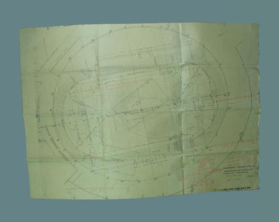 Plan - MCG Reconstruction for Olympic Games Athletics Field Plan, dated 9/5/55; Documents and books; 2004.4123.80