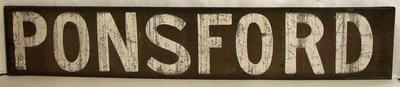 "MCG scoreboard banner, ""Ponsford"" - used 1920s-1930s"