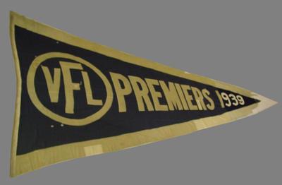 1939 VFL Premiers flag, won by Melbourne FC