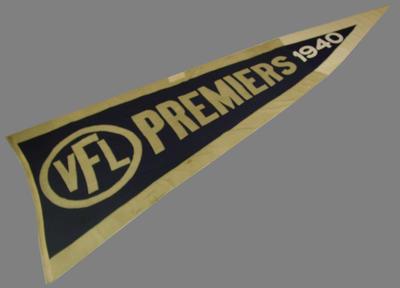 1940 VFL Premiers flag, won by Melbourne FC