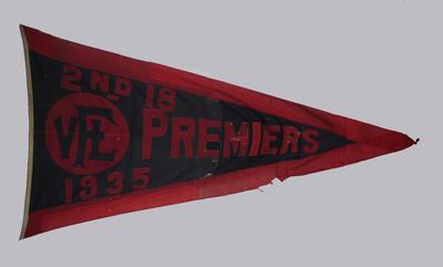 1935 VFL Reserves premiership flag, won by Melbourne FC