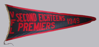 1949 VFL Reserves premiership flag, won by Melbourne FC