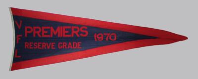 1970 VFL Reserves premiership flag, won by Melbourne FC