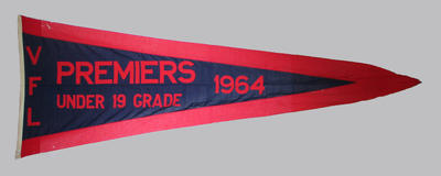 1964 VFL Under 19 Grade premiership flag, won by Melbourne FC