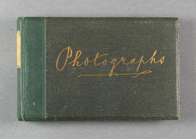 Photograph album containing sepia and b/w photographs