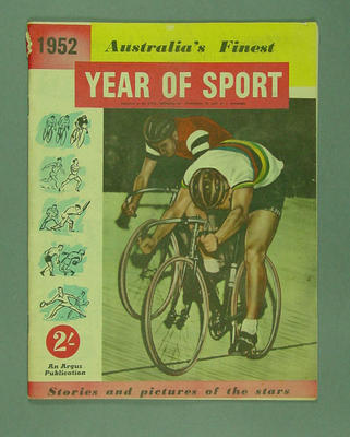 "Magazine, ""1952 - Australia's Finest Year of Sport"""