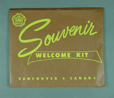 Document holder, 1954 British Empire & Commonwealth Games - Souvenir Welcome Kit
