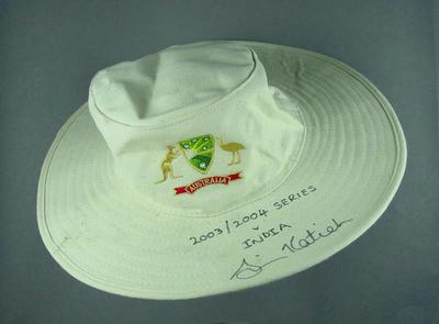 Cricket hat, worn by Simon Katich 2003-04
