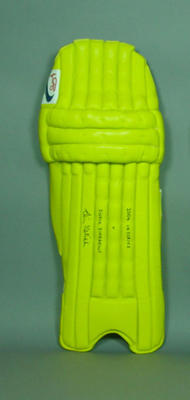Batting pad, used by Simon Katich during 2004 VB Tri-Series