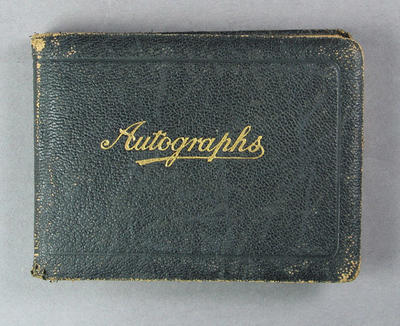 Autograph book, contains signatures of 1930 Australian cricket team