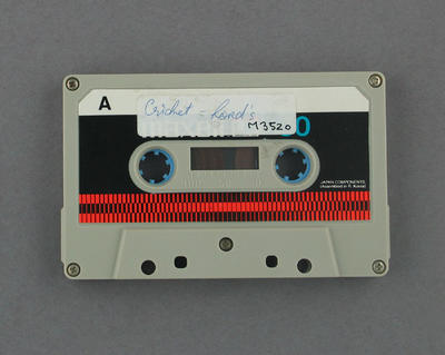 "Audio cassette, ""Cricket - Lord's"""