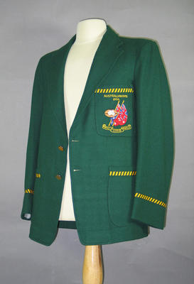 Blazer worn by Bill Hutchison, All-Australian Football Team 1956