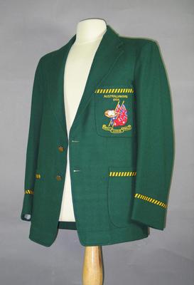 Blazer worn by Bill Hutchison, All-Australian Football Team 1956