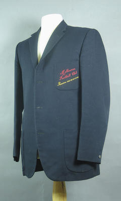 Navy-blue Blazer - Melbourne Football Club Premiers 1955-56-57-59-60 - worn by Brian Dixon