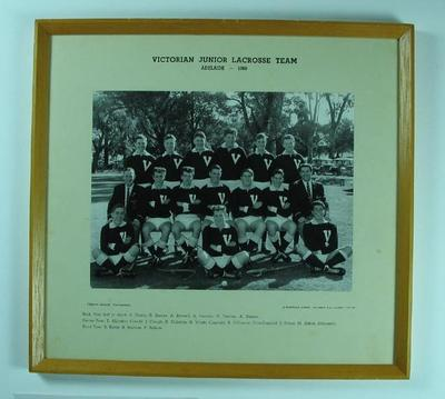 Photograph of Victorian Junior Lacrosse Team in Adelaide, 1960