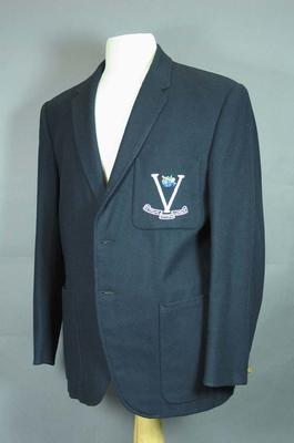 Navy Blazer - Victorian Football League - worn by Brian Dixon; Clothing or accessories; 1987.1535.2