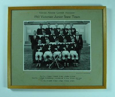 Photograph of Victorian Junior State Lacrosse Team, 1961