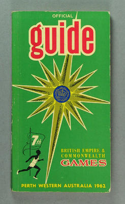 Guide book, British Empire & Commonwealth Games 1962 Perth