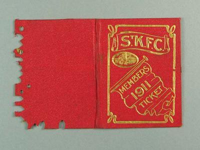 Membership ticket, St Kilda FC 1911