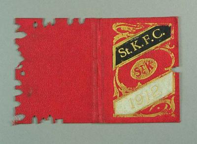 Membership ticket, St Kilda FC 1912; Documents and books; 1988.1904.9.5