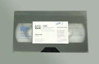 VHS cassette - 'In Realms of Gold' re Shirley Strickland, ABC's 'Australian Story'