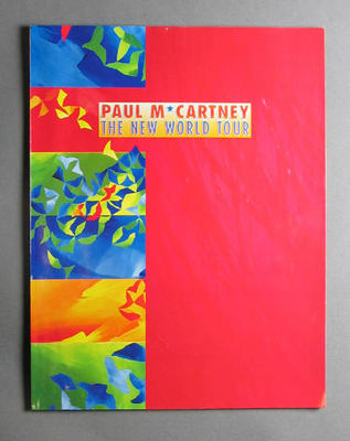 Programme: Paul McCartney  New World Tour concert tour - 9-10 March 1993