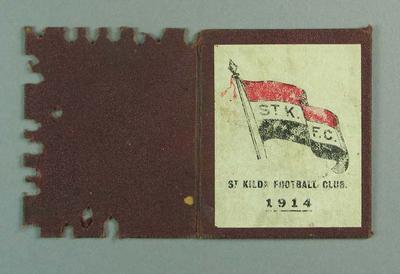 Membership ticket, St Kilda FC 1914; Documents and books; 1988.1904.9.8