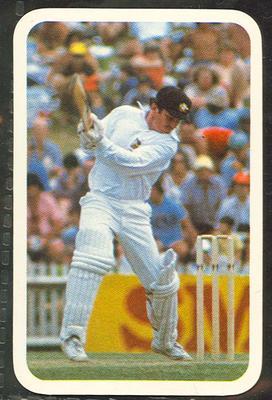 1979/80 Ardmona Collector Cards Series II International Cricket Allan Border trade card