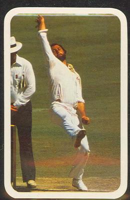 1979/80 Ardmona Collector Cards Series II International Cricket Ray Bright trade card
