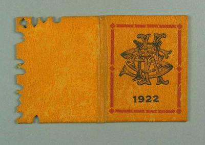 Membership ticket, St Kilda FC 1922; Documents and books; 1988.1904.9.13