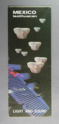 """Tourist brochure, """"Mexico teotihuacan"""" c1968"""