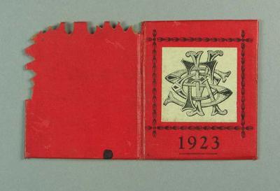 Membership ticket, St Kilda FC 1923; Documents and books; 1988.1904.9.14
